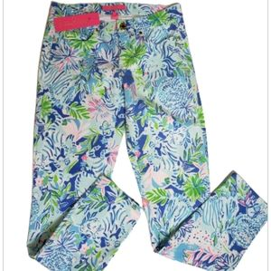 Lilly Pulitzer Ocean Skinny Jeans Lion Around